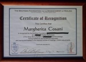certificato tecnico chakra