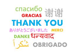 grazie in tante lingue diverse
