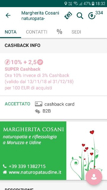 I VANTAGGI DELLA CASHBACK CARD